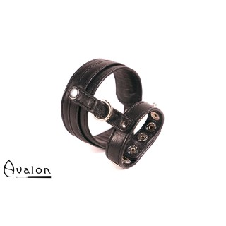 Avalon - ENDURENCE - Cock & Ball Harness med Spenner - Svart