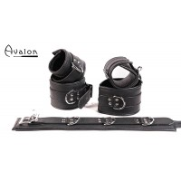 Avalon - DENY - Collar og Cuffs, 5 deler, Svart