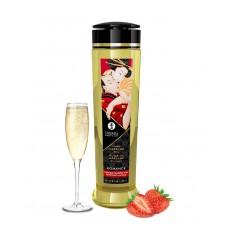 Shunga - Romance Sparkling Strawberry - Massasjeolje - 240ml